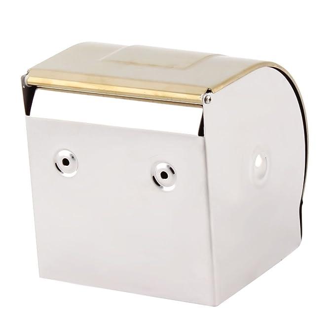 Amazon.com: eDealMax baño enchapado en oro colgados de la pared sostenedor de Papel higiénico de tejidos rodillo dispensador: Home & Kitchen