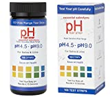 #6: pH Test Strips + BONUS PDF Get Results in Seconds - Tests Body pH Levels for Alkaline & Acid levels Using Saliva and Urine. Track and Monitor Your pH Balance & A Healthy Diet 100ct pH Scale 4.5-9