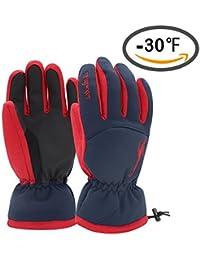 Ski Gloves Waterproof Men's Women's Windproof Waterproof Windproof Men's Winter Thinsulate Thermal Warm Snow Snowboarding Snowmobile Gloves