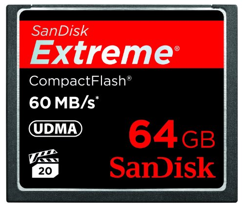 SanDisk Extreme CompactFlash Memory SDCFX 064G X46