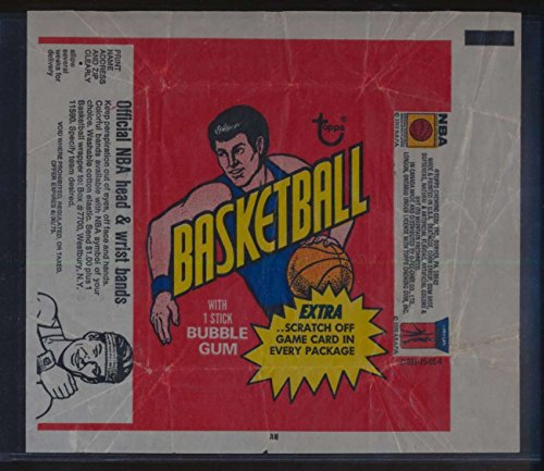 1973 Topps Basketball empty wrapper wristband ad VGEX 45698