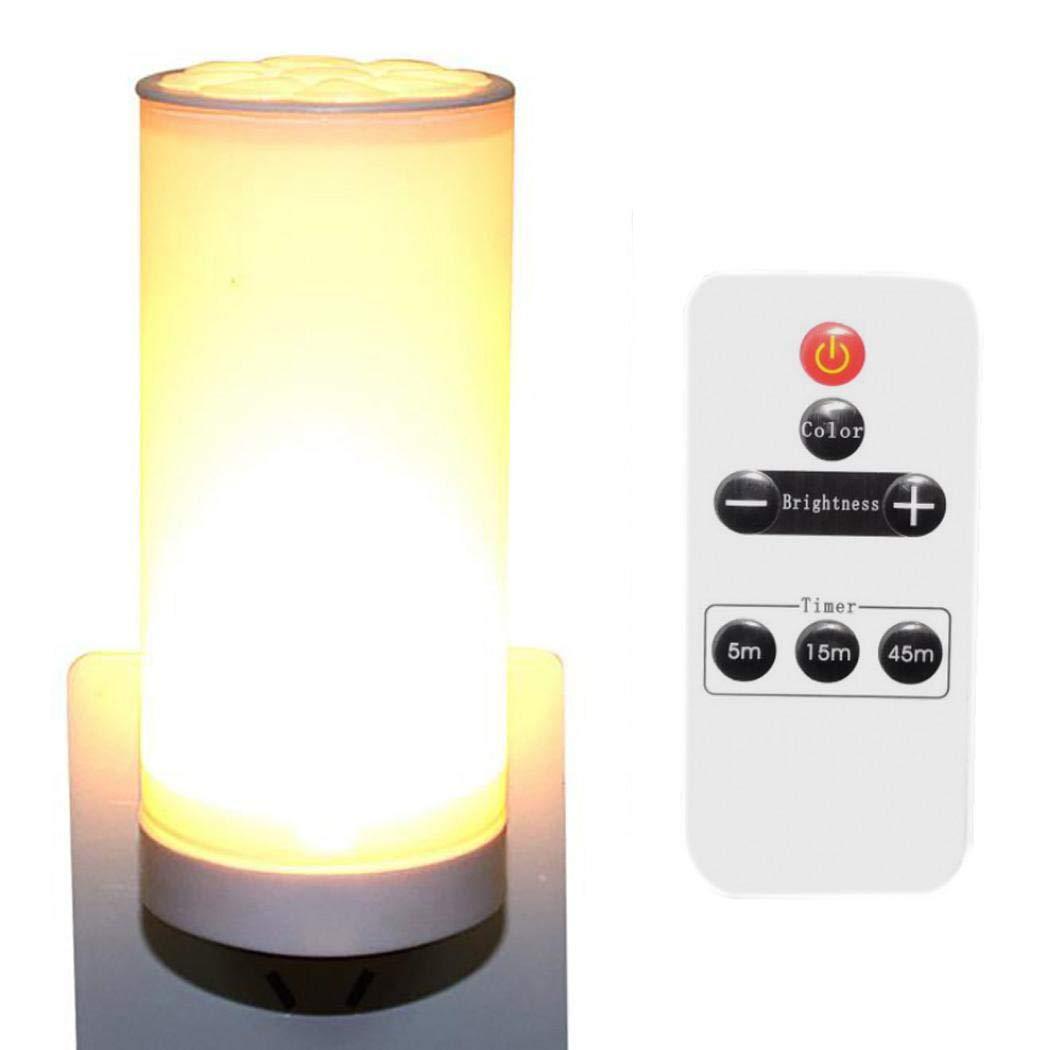 milene88 Remote Control LED Night Light Adjustable Bright Bedside Lamp Wall Lamp Night Lights