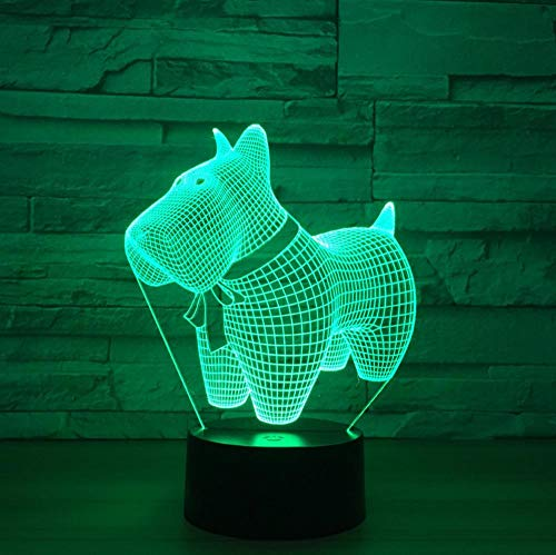 7 farbige 3D-Nachtlicht-LED Lovely Dog Small Night Light Touch Switch Changing Table Lamp 5V USB Night Lights Home Decor…