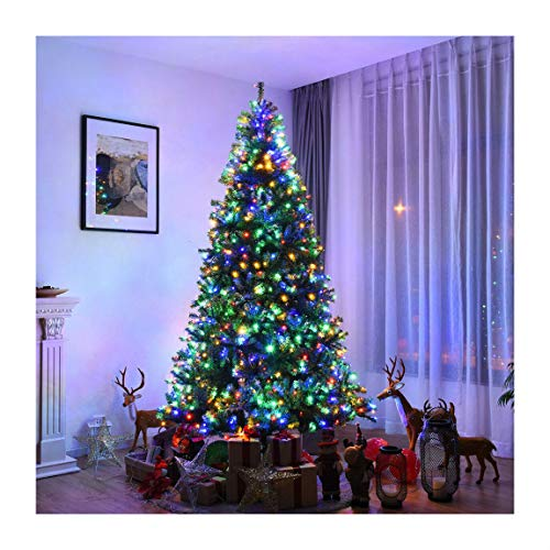 Lonestar Wholesaler 8Ft Pre-Lit Artificial Christmas Tree Pre-Lighted Premium Hinged w/ 750 LED Lights & Stand (9 Foot Christmas Tree With Changing Lights)