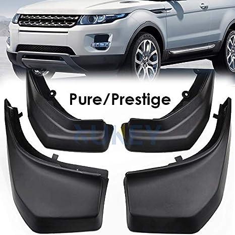 XUKEY - Juego de 4 Protectores de Salpicaduras para Range Rover Evoque Pure Prestige 2012 - 2018, Parte Delantera y Trasera: Amazon.es: Coche y moto