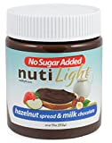 Nutilight Hazelnut and Cocoa Spread with Milk, 11 Ounce (Pack of 16)