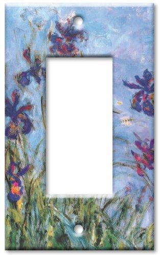 Art Plates - Monet: Irises Switch Plate - Single Rocker