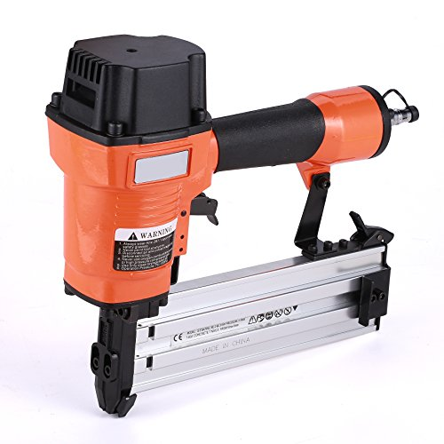 Brad Nailer Gun 2 in 1 Multifunction Air Woodworking Nail Gun14 Gauge 3/4 Inch to 2 Inch Orange by BORNTUN
