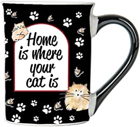 Home Is Where Your Cat Is Mug, Cat Lover Coffee Cup, Ceramic Cat Lover Mug, Cat Lover Gifts By Tumbleweed