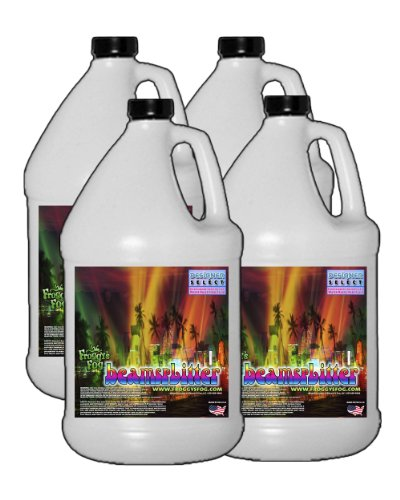 Beam Splitter - Professional Water Based Haze Fluid - 4 Gallon Case - Works Amazing in Hurricane Haze 1D, Haze 2D and Haze 4D by Froggys Fog