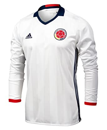 ac5f129bd Adidas Colombia Home Soccer Jersey Copa America Centenario 2016 Long Sleeve  White/navy,Small