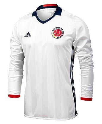 cd676541e45 adidas Colombia Home Soccer Jersey Copa America Centenario 2016 Long Sleeve  (M) White