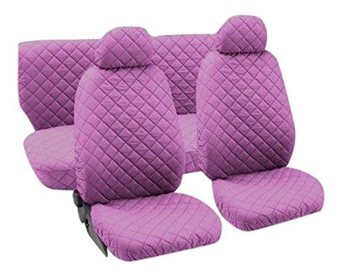 Juego de fundas de asiento universales Lupex Shop trap/_Ro tejido acolchado color rosa