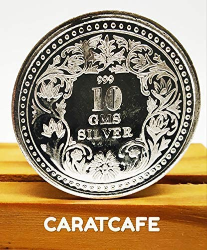 CaratCafe Goddess Lakshmi Silver Coin (10 Gram / 999 Purity BIS Hallmarked  Certified) Laxmi Coins for Puja, Diwali Gift, Hindu Deity Pooja, Coins for