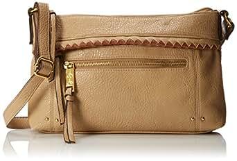 Jessica Simpson Dream Weaver Cross Body Bag,Sesame/Luggage,One Size