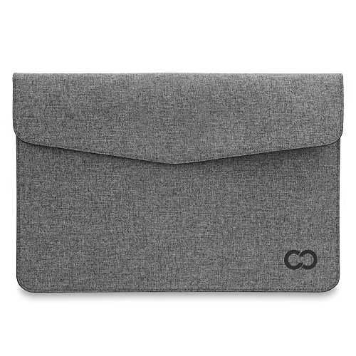 11 Inch MacBook Air / Laptop CaseCrown Campus Sleeve / Slim Canvas (Charcoal Gray)