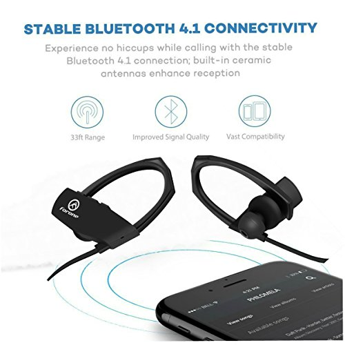 wireless bluetooth earbuds forone ipx7 waterproof noise cancelling headphones with mic super. Black Bedroom Furniture Sets. Home Design Ideas