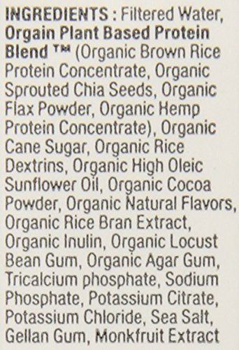 Orgain Plant-Based Organic Nutrition Shake, Smooth Chocolate, 11 Ounce, 12 Count