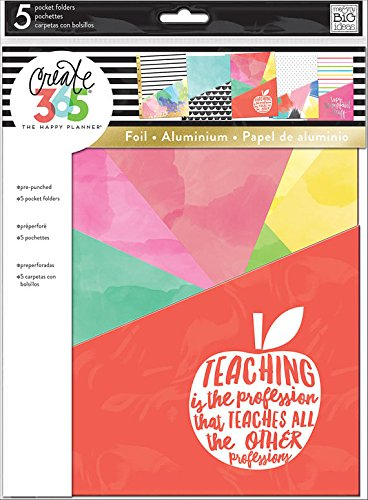 Create 365 The Big Happy Planner Pocket Folders, Teacher Edition