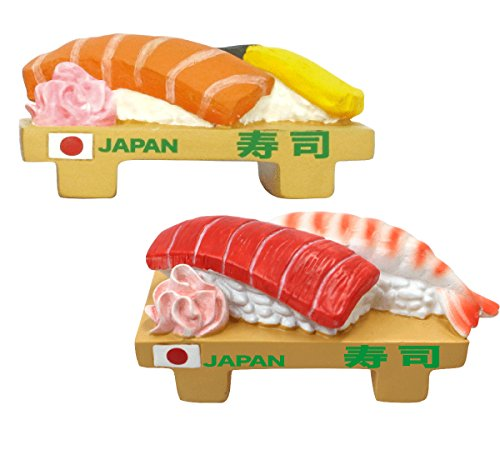 3D Refrigerator Magnets Japan Collection (Sushi)