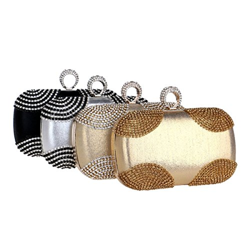dress bag Gold ladies encrusted bag evening bag European Silver American Diamond and with Gold Fly Silver banquet evening bag evening Color Zvw0AUnq