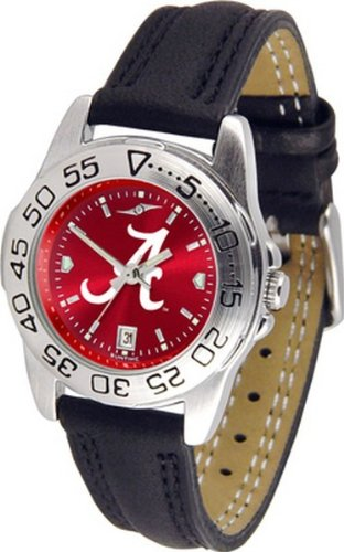 Alabama Crimson Tide Bama Ladies Leather Band Sports Watch by SunTime