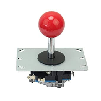 Red Ball 8 Way Joystick Stick Replacement Accessory Parts for Video Games Arcade