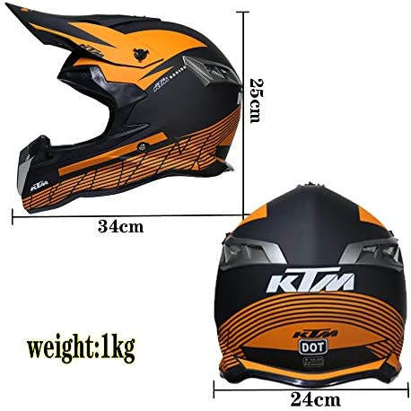 O S, M, L, XL WMING Adulte Motocross Casque MX Moto Casque ATV Scooter ATV Casque D T Certified Rockstar Multicolor avec Lunettes Masques Gants