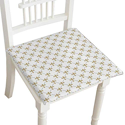 air Cushion Fleur de lis Seamless Monarchy Gold iris Sign on White intersected Cushions 16