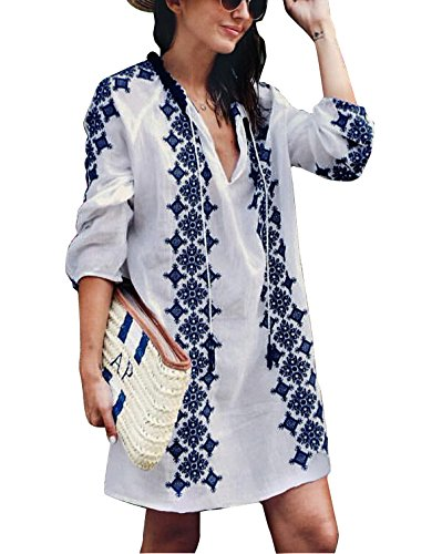Jeasona Women's Cover Ups for Swimwear Beach Coverups Embr