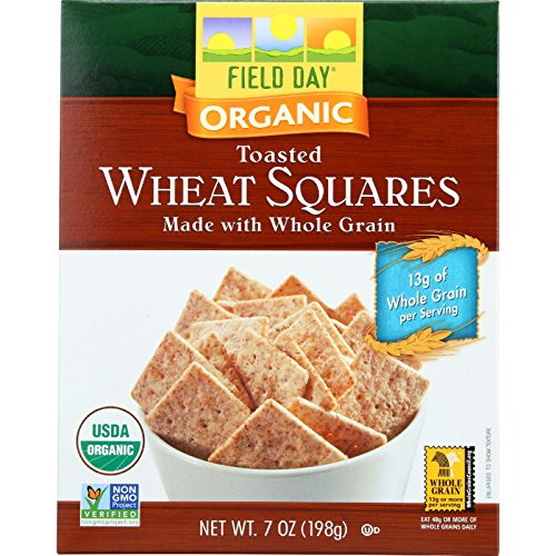 Field Day Crackers Organic Toasted Wheat Squares, 12 Count