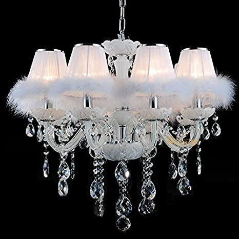 Lámpara de araña de techo de cristal, estilo romántico ...