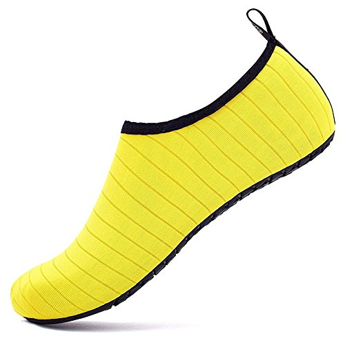 WULFUL Womens Mens Water Shoes Barefoot Quick-Dry Aqua Yoga Socks for Beach Swim Surf Exercise from WULFUL