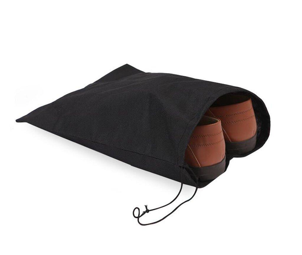 10x Demarkt Schuhtasche Schuhbeutel Schuhsack Schuhe Aufbewahrung Organizer für Reise Schwarz 28.5*36CM