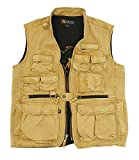 Kakadu Traders Delta Multi Pocket Vest made from Canvas For Sale