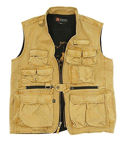 Kakadu Traders Delta Multi Pocket Vest made from Canvas For Sale