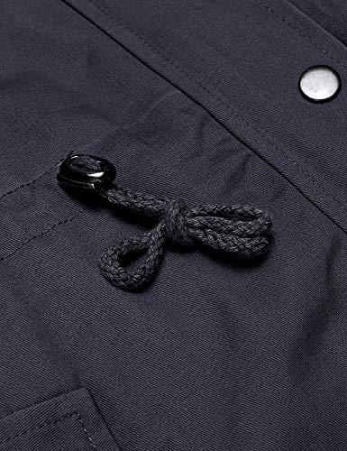 Outdoor Manica Moda Di Blau Monocromo Casual Cappotti Style Con Lunga Ragazze Giacca Antivento Cerniera Invernali Elegante Transizione Pulsante Coulisse Donna Navy Cappuccio Giacche Festa Jacket 77tCwqZ