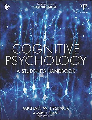 amazon cognitive psychology a student s handbook michael w