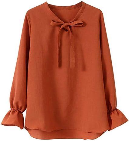 Heeecgoods Blusa de Camisa Grande para Mujer Camisa de Gasa ...