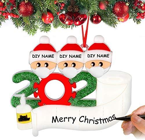 Airabc Decorazioni per Albero di Natale Sopravvissuto Famiglia 2020 Ornamenti Natalizi Decorazioni per Le Vacanze di Natale, Decorazione per la casa, Personalizzate Regalo di Natale,Family-3