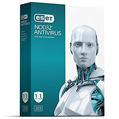 ESET NOD 32 AntiVirus | 2017 (1 PC- 2 Years) No CD- Only key via email