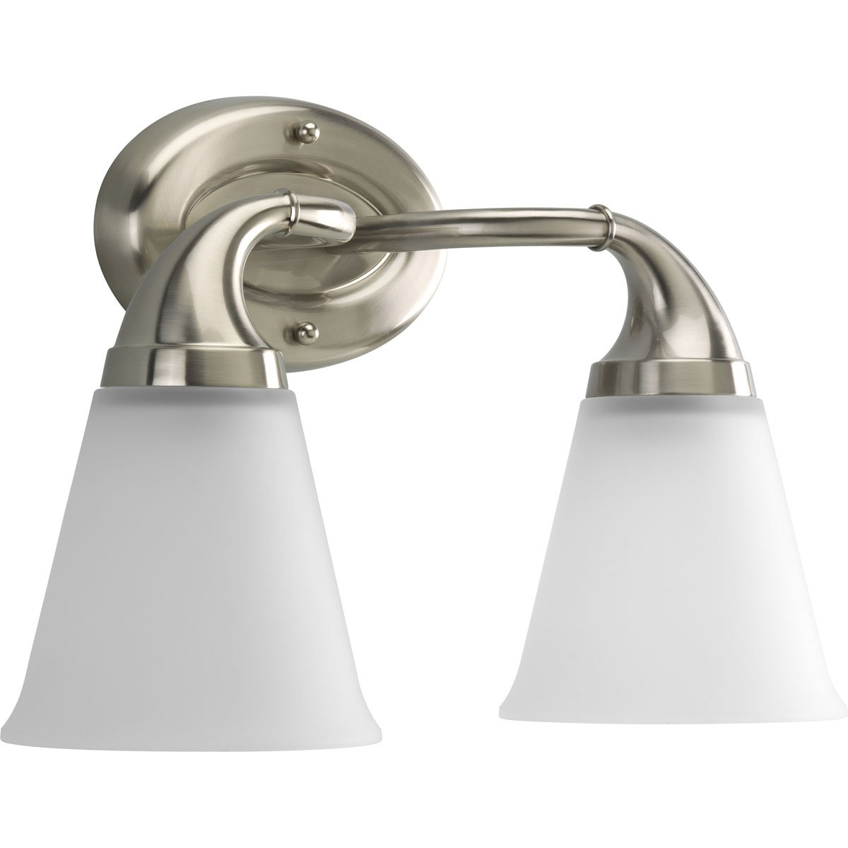 Progress Lighting P2759-09 2-Light Bath Which Mounts Up Or Down, Brushed Nickel by Progress Lighting