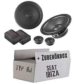 Seat Ibiza 6J - Altavoces Cajas Helix Match MS62 C - 16 cm de 2 Vías Sistema de altavoces Auto Juego de Instalación de accesorio - Instalación: Amazon.es: ...