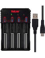 Universal-Ladegerät Smart 18650 Ladegerät für AAA AA A 10440 14500 14650 17670 18350 18500 18700 22650 20700 21700 26650 Li-Ion NI-MH NI-CD RCR123 Wiederaufladbare Batterien