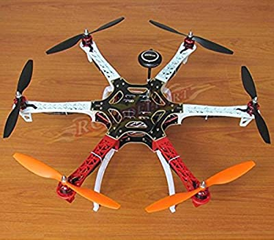 powerdayDIY Replacement F550 Hexacopter Kit Frame Kit&AAPM2.8 Flight controller & NEO-7M GPS & 2212 920KV Brushless motor& Simonk 30A ESC&1045 Propeller from Rcmodel