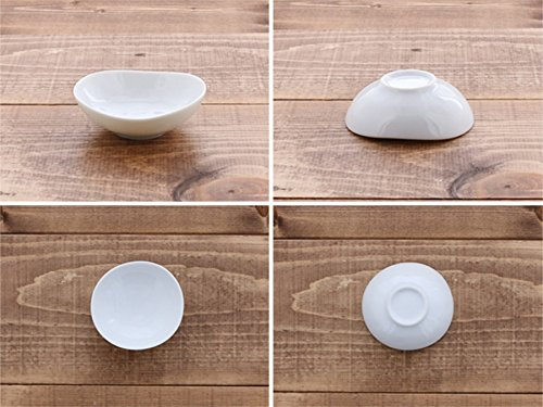 Zen Table Japan STUDIO BASIC Original Kozuke Oval Shaped Sauce Dish Made in Japan Set of 4