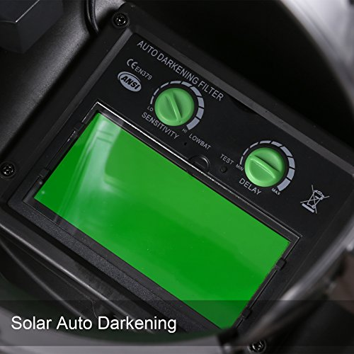 Coocheer Solar Arc Tig Mig Auto-Darkening Welding Helmet/Hood MIG TIG ARC Professional Mask by Coocheer (Image #3)