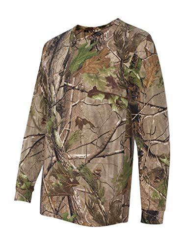 Adult REALTREE Camouflage Long-Sleeve T-Shirt (APG Realtree HD) (Small)
