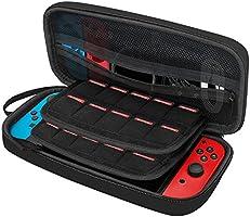 JETech Funda para Nintendo Switch con 20 Bolsillos para Cartuchos de Juegos, Negro