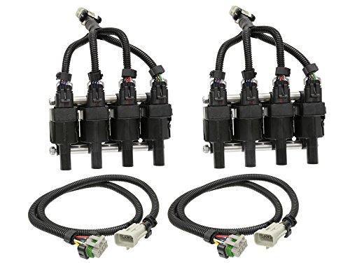 Packs Coil Ls1 (Michigan Motorsports Coil Pack Relocation Kit for LS1 LS2 LS3 LS4 LS7 LS9 LSX Powdercoated Black)